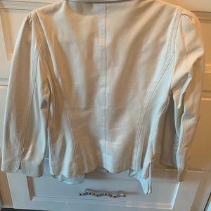 Fendi Leather Cropped Jacket